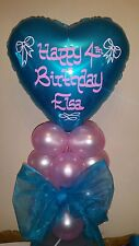 Personalised Foil Balloon Air Filled Table Centrepiece Christening, Birthday