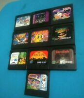 SEGA GAME GEAR LOT DE 10 JEUX CARTOUCHES no snes nes ps1 ps2 nintendo atari lynx