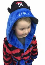 Personalised **Size 4-5 yrs ** Pirate Embroidered Dressing Grown/ Robe
