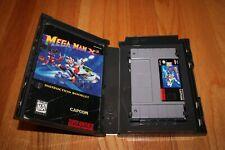 Mega Man X2 (Super Nintendo, 1995) SNES Authentic Cart & Manual Hard Shell Case