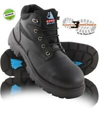 NEW STEEL BLUE Mens Work Boots Whyalla Safety Steel Toe, Lace ALL SIZES + BONUS