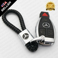 Universal Black Calf Leather Alloy Keychain Ring Decoration Gift Accessories