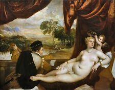Venus and the Lute Player by Titian and Workshop Old Masters 8x10 Art Print