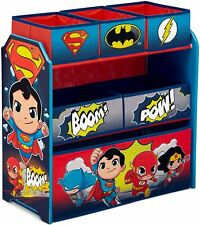 Delta Children 6-Bin Toy Storage Organizer, DC Super Friends | Batman | Robin