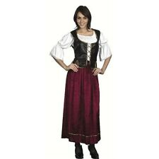 Ladies Victorian Wench Costume - Peasant Medieval Fancy Dress New - One Size