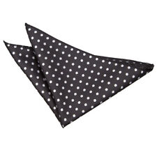 DQT Woven Polka Dot Casual Formal Handkerchief Hanky Pocket Square + GET 1 FREE