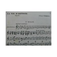 STRAUSS Johann La Vie d'Artiste Valse Orchestre XIXe partition sheet music score