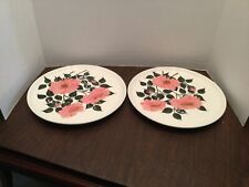 """2 Vintage Russel Wright Decorated Cream Coiored Plates 10"""""""