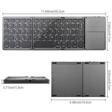 Folding Bluetooth Keyboard for Tablet Samsung Smartphone Portable BT Wireless