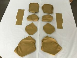 Porsche 928 (1977-1984), Rear Seat Covers, Champagne Leather