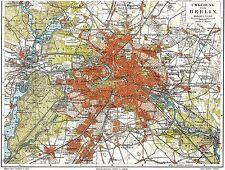 MAP 1901 MEYERS ENCYCLOPEDIA BERLIN CITY PLAN LARGE REPLICA POSTER PRINT PAM0392