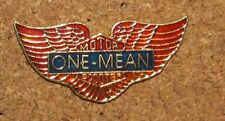 B4 PIN WINGS MOTO MOTOR ONE MEAN BIKER PINS SCOOTER