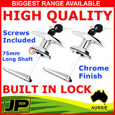 2 x T HANDLE DOOR LOCK 2 KEYS CARAVAN GARAGE SHED CAMPERVAN TRAILER UTE TOOLBOX