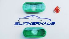 VW GOLF/JETTA MK3 CABRIO POLO PASSAT VENTO SEAT GREEN FENDER SIDE MARKER LIGHTS