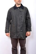 Australian Stockman's Oilskins Men's Trench Coat Jacket Blue S SMALL Vintage 80s