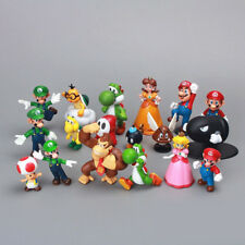 """Set Of 18 Pcs Super Mario Brothers Bros Figure Toy- 2"""" PVC Toys Kids Gift New"""