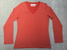 Brand New Women's Seasalt Red Blazey Flowerbud V Neck Top Size 10