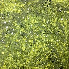 Christmas Winter Pine Needle & Snow Sewing RTC  Quilt Quilting Fabric FQ