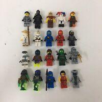 Lego Ninjago Minifigure Lot X20 Kai Cole Jay Zane Lloyd Wu Snakes Garmaddon + #3