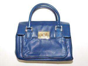 Michael Kors Navy Blue Leather Handbag