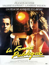 Affiche 120x160cm LA FEMME PUBLIQUE 1984 Andrzej Zulawski - Valérie Kaprisky TBE