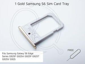 Gold Samsung S6 Edge SIM Card Tray G925F G925A G925P G925T G925V G925 sim pin