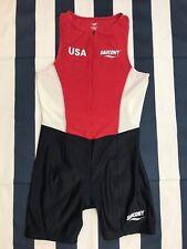 Vintage Saucony Usa Men Tri Triathlon Suit Xl Xlarge Run Bike Swim Race Trilete