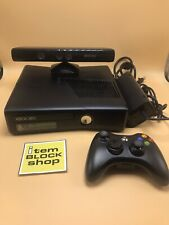 Microsoft Xbox 360 S Slim Black No HDD Console/System Bundle Controller Kinect