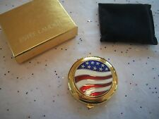 ESTEE LAUDER FULL POWDER COMPACT LUCIDITY AMERICAN FLAG SPARKLY