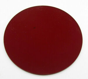 """5 1/2"""" Red Safelight Filter Circle 1/8"""" Thick Plastic for Photo Darkroom NEW F07"""