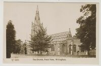 Cambridgeshire postcard - The Church, Froont View, Willingham - RP (A27)