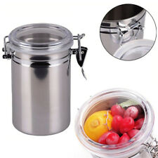 Stainless Steel Airtight Sealed Canister Flour Sugar Coffee Tea Container Holder