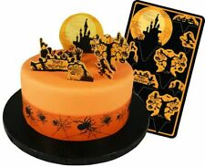 HAUNTED HALLOWEEN Cake Topper Kit GHOST WITCH PUMPKIN cupcakes decorations