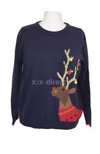 Women's Joules The Cracking Festive Reindeer Christmas Xmas Jumper