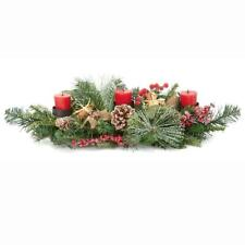 Premier Christmas Table Centrepiece Decoration 60cm Natural 3 Candle Holder