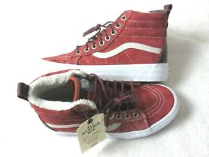Vans Womens Sk8-Hi MTE All Weather Boots Hot Sauce Port Royale Suede Size 7 NWT