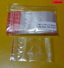 100 St. premium ZIP-bags Red Line 80mm x 120mm druckverschlußbeutel 1a calidad