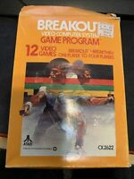 BREAKOUT Game For Atari 2600 Complete with Box & Instruction Manual CIB