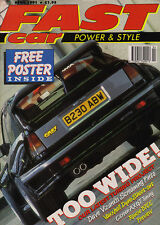 Fast Car Power & Style Apr 1991- V8 Escort Mk I,Citroen AX GT,Astra,Lotus.