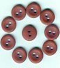 10 BOUTONS Marron * 11 mm *  2 trous * 1,1 cm * brown button lot neuf mercerie