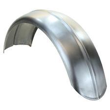 """7.5"""" Wide Raw Steel Ribbed Bobber Fender"""