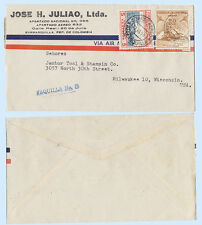 Colombia 1956 #C243 650 Airmail Cover Barranquilla to Wisconsin USA