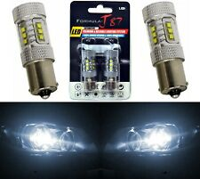 LED Light 80W 1156 White 5000K Two Bulbs Rear Turn Signal Replacement Stock JDM