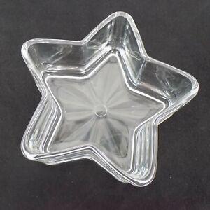 "Libbey Clear Glass Star Shaped Candy Jewelry Nut Soap Trinket Dish 6"" Decor"
