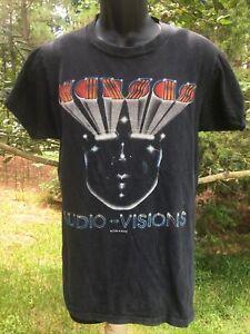 Vintage Kansas Audio-Visions 1970s Tour Concert band T Shirt  Original Sz S