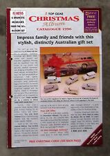 TRAX CHRISTMAS CATALOGUE 1996 brochure 1/43 Diecast model HQ MONARO COMMODORE XK