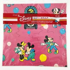 Vintage Wrapping Paper Gift Wrap Disney Mickey Minnie Dance Jukebox Rockin' NIP