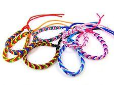 Friendship Bracelets Wristband Hand Woven Peru Twist Design Various Colours