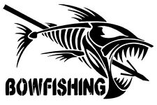 BOWFISHING Sticker BOW fishing Decal Boat Truck Window Quote 4x8
