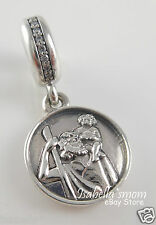 NEW Authentic PANDORA Silver/Cz GUARDIAN OF TRAVEL St CHRISTOPHER Dangle/Charm